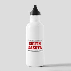 'Girl From South Dakota' Stainless Water Bottle 1.