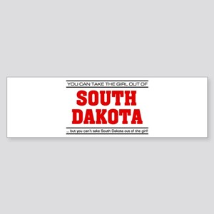 'Girl From South Dakota' Sticker (Bumper)