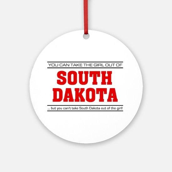'Girl From South Dakota' Ornament (Round)