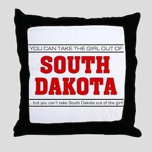 'Girl From South Dakota' Throw Pillow