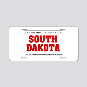 'Girl From South Dakota' Aluminum License Plate