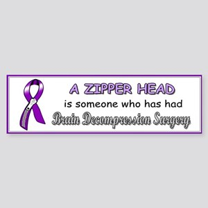 BumperStickerZipperHead Bumper Sticker