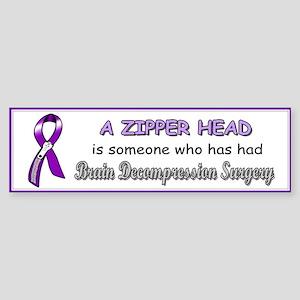BumperStickerZipperHeadpng Bumper Sticker