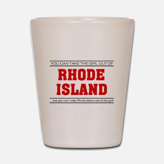 'Girl From Rhode Island' Shot Glass