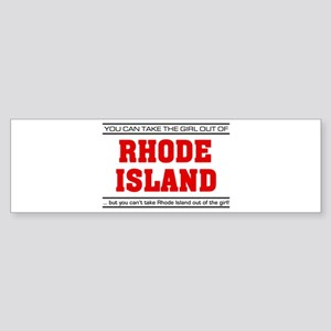 'Girl From Rhode Island' Sticker (Bumper)