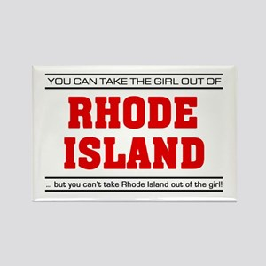 'Girl From Rhode Island' Rectangle Magnet
