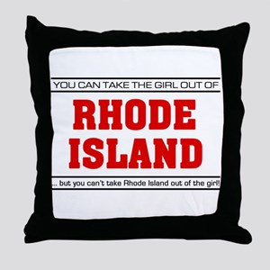 'Girl From Rhode Island' Throw Pillow