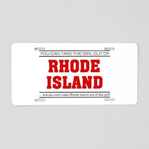 'Girl From Rhode Island' Aluminum License Plate