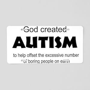 Autism offsets boredom Aluminum License Plate