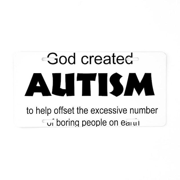 Autism license plates
