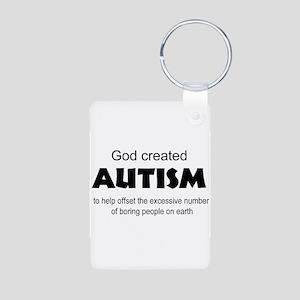 Autism offsets boredom Aluminum Photo Keychain