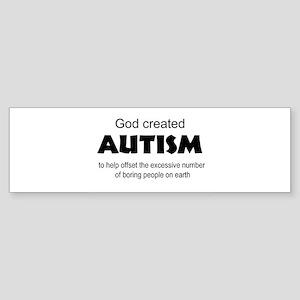 Autism offsets boredom Sticker (Bumper)