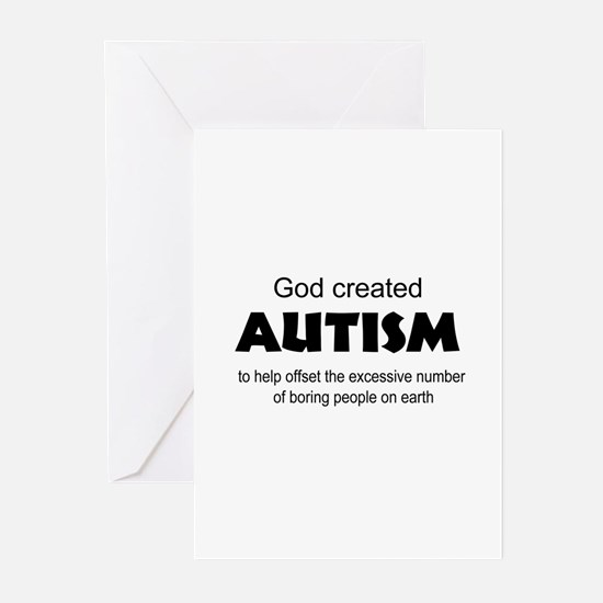 Autism offsets boredom Greeting Cards (Pk of 10)