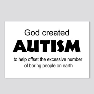 Autism offsets boredom Postcards (Package of 8)