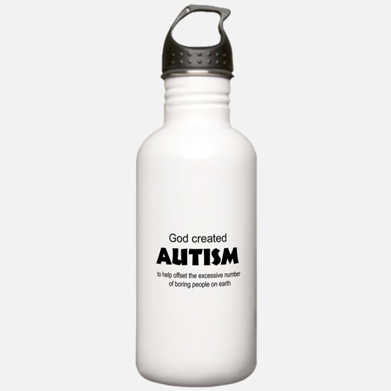 Autism offsets boredom Water Bottle
