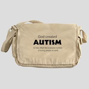 Autism offsets boredom Messenger Bag