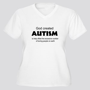 Autism offsets boredom Women's Plus Size V-Neck T-