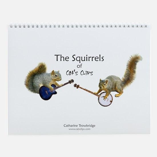 Squirrels Of Cat's Clips Wall Calendar