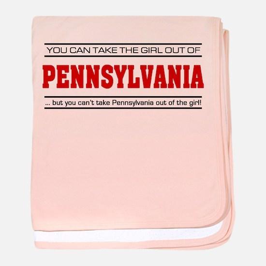 'Girl From Pennsylvania' baby blanket