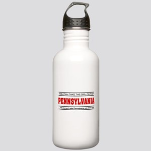 'Girl From Pennsylvania' Stainless Water Bottle 1.