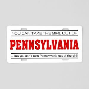 'Girl From Pennsylvania' Aluminum License Plate