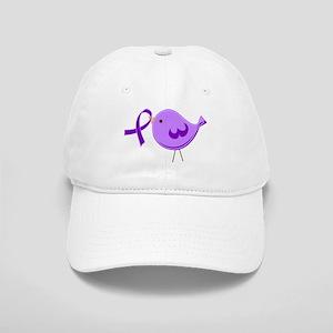 Alzheimer's Purple Ribbon Bird Cap