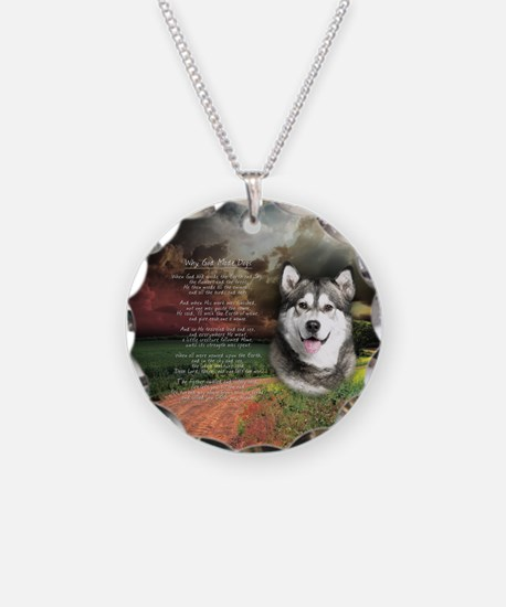 """Why God Made Dogs"" Malamute Necklace"