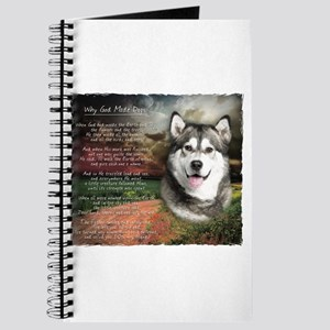 """Why God Made Dogs"" Malamute Journal"