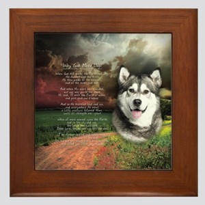 """Why God Made Dogs"" Malamute Framed Tile"