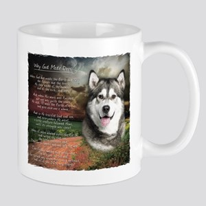 """Why God Made Dogs"" Malamute Mug"