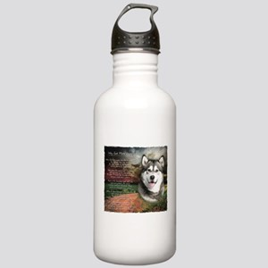 """""""Why God Made Dogs"""" Malamute Stainless Water Bottl"""