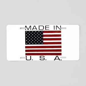 MADE IN U.S.A. Aluminum License Plate