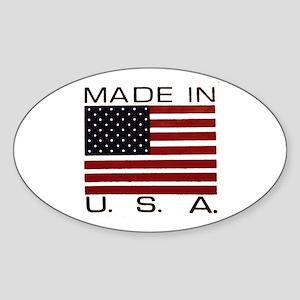 MADE IN U.S.A. Sticker (Oval)