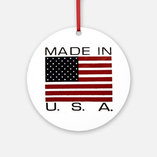 MADE IN U.S.A. Ornament (Round)