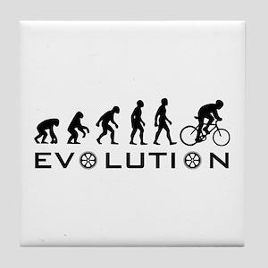 Evolution Of Bike Tile Coaster
