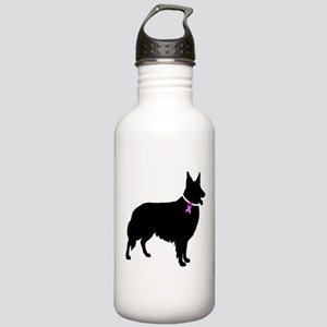 Collie Breast Cancer Support Stainless Water Bottl