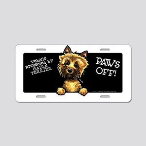 Funny Cairn Terrier Aluminum License Plate