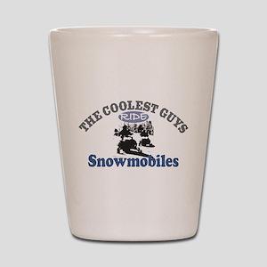 Coolest Guys Snowmobile Shot Glass
