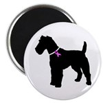 Fox Terrier Breast Cancer Sup Magnet