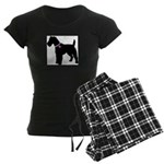 Fox Terrier Breast Cancer Sup Women's Dark Pajamas