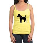 Fox Terrier Breast Cancer Sup Jr. Spaghetti Tank