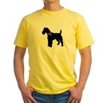Fox Terrier Breast Cancer Sup Yellow T-Shirt