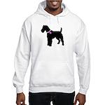 Fox Terrier Breast Cancer Sup Hooded Sweatshirt