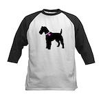 Fox Terrier Breast Cancer Sup Kids Baseball Jersey