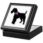 Fox Terrier Breast Cancer Sup Keepsake Box
