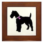 Fox Terrier Breast Cancer Sup Framed Tile