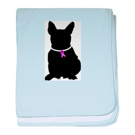 French Bulldog Breast Cancer baby blanket