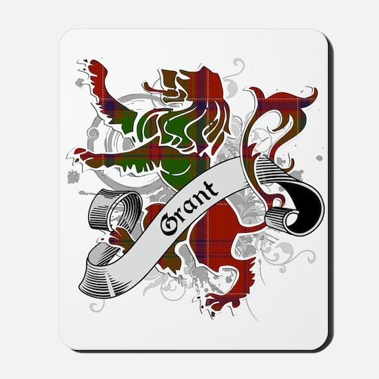 Grant Tartan Lion Mousepad