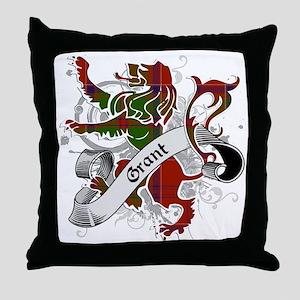 Grant Tartan Lion Throw Pillow
