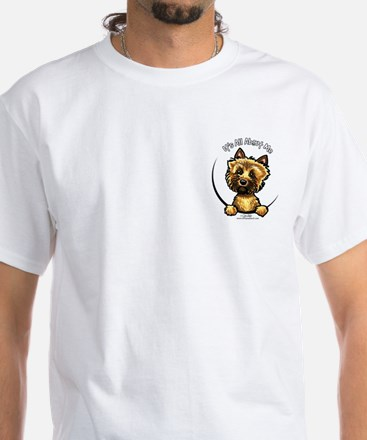 Cairn Terrier Pocket IAAM White T-Shirt